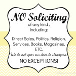 Printable No Soliciting Sign