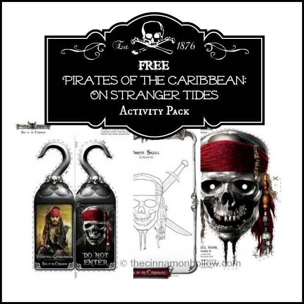FREE Pirates of the Caribbean: On Stranger Tides Activity Pack