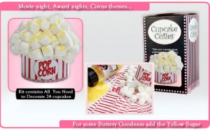 cupcakecutiespopcorn 300x186 Cupcake Cuties Review and Giveaway! movie night birthday