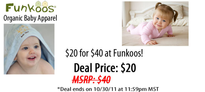 #Deal. $20 for $40 worth of Funkoos #Organic Baby Clothing!