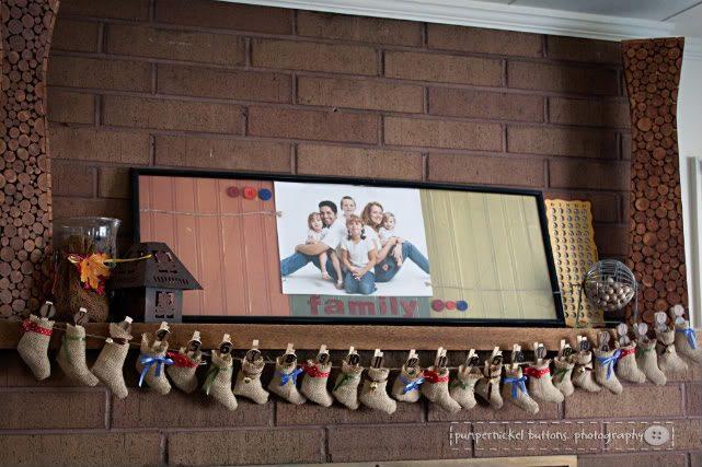 A darling mini stocking #Advent calendar. #adventcalendar #Christmas