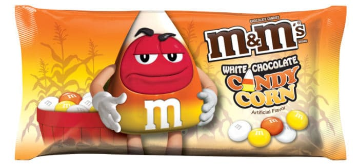 White Chocolate Candy Corn M&M's are FINALLY here!