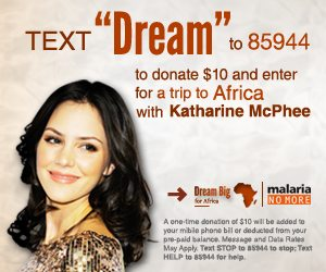 """Dream Big for Africa"" with Katharine McPhee #socialgoodmoms"
