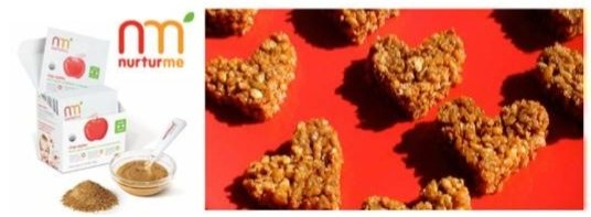 "NurturMe's ""Be My Valentine"" Apple Rice Crisp Treats"