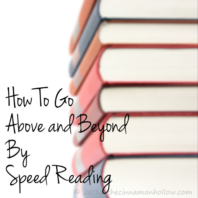 How to Go Above and Beyond By Speed Reading