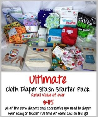 It's the #FluffyFourth of July Giveaway! Win an Ultimate Cloth Diaper Starter Pack!