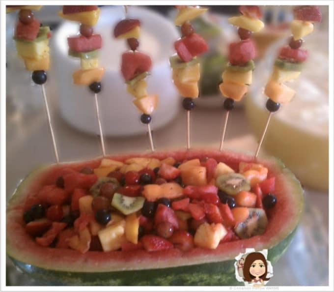 We Are A Fruity Bunch! Watermelon Boats and Fruit Kebabs Make Summer Fun!