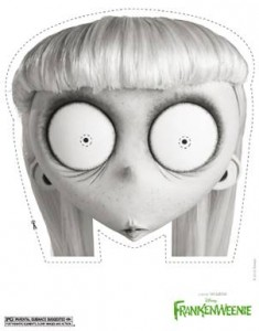 FRANKENWEENIE printable Halloween masks