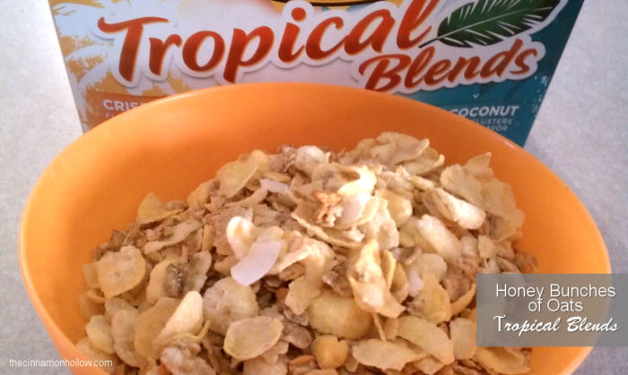 NEW Honey Bunches Of Oats Tropical Blends Cereal Giveaway