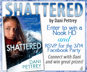 'Shattered' Nook HD Giveaway from @DaniPettrey and RSVP for {3/14} Facebook Party!