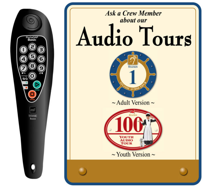 Titanic Pigeon Forge Audio Device