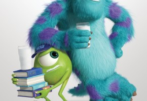 "MONSTERS UNIVERSITY - Mike and Sulley in New ""got milk?"" Ad"