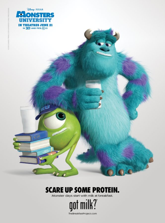 "MONSTERS UNIVERSITY – Mike and Sulley in New ""got milk?"" Ad!!!"