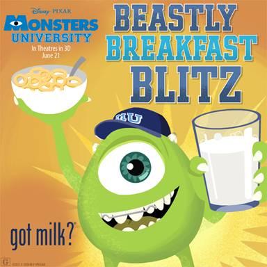 """MONSTERS UNIVERSITY – Play the """"Beastly Breakfast Blitz"""" Game! #monstersu"""
