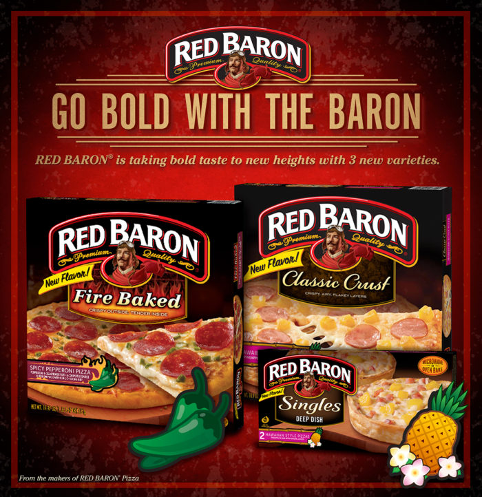 Spice Up Movie Night With BOLD New Red Baron Pizzas! Giveaway.