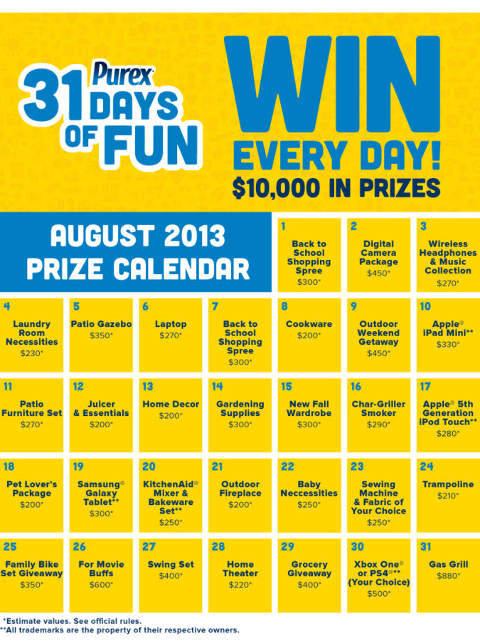 Enter The Purex 31 Days Of Fun Sweepstakes!