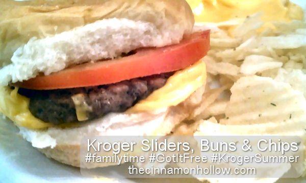 Kroger Sliders Buns And Chips #krogersummer