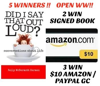 Win A Signed Copy Of Did I Say That Out Loud? By Kelly McDermott Harman