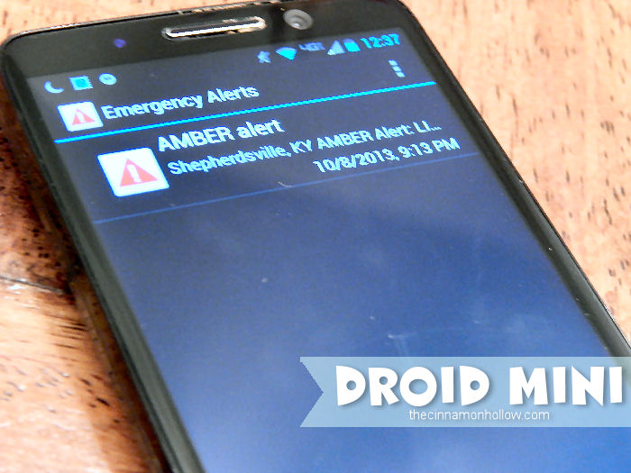 DROID MINI Emergency Alerts