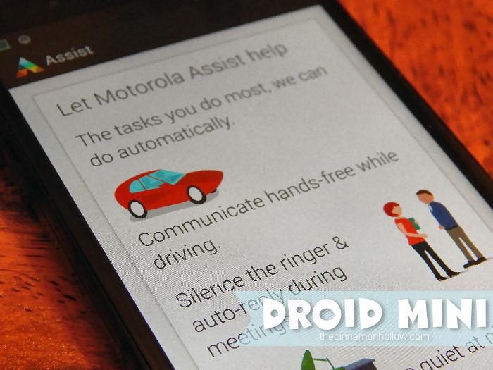 DROID MINI Motorola Assist