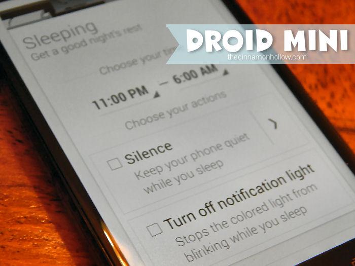 DROID MINI Sleep