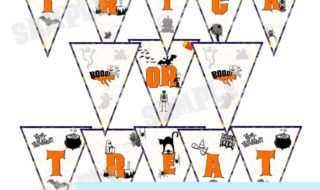 Download This Spooky Halloween Bunting Printable
