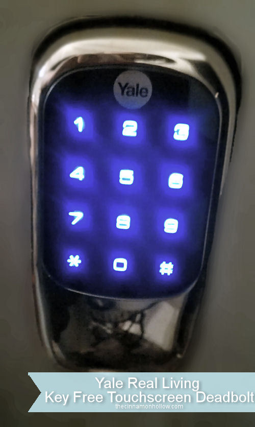 Yale Real Living Key Free Touchscreen Deadbolt Outside