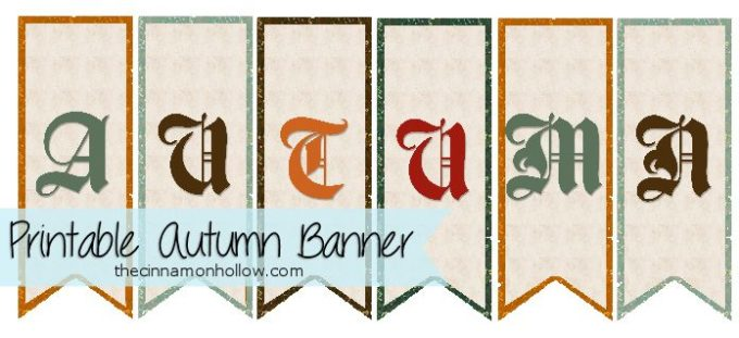 Autumn Bunting: Free Autumn Printable Preview