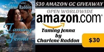 Taming Jenna $30 Amazon Gift Card Giveaway!
