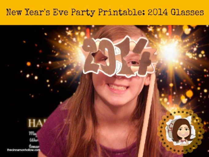 New Year's Eve Party Printable: 2014 Glasses