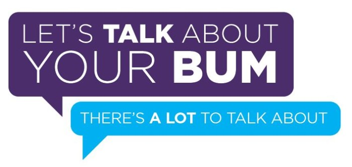 #LetsTalkBums Logo