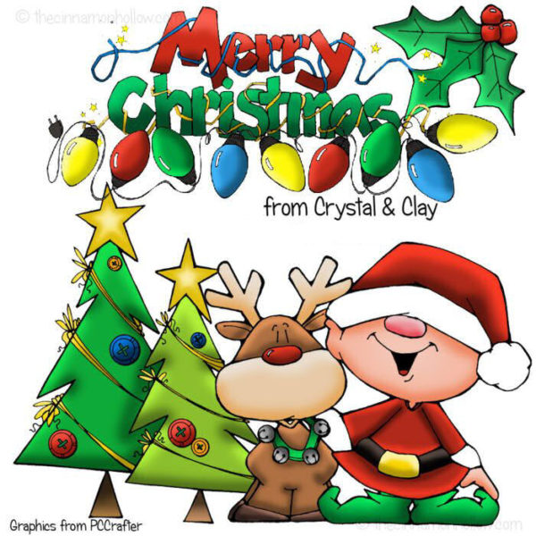 Merry Christmas from Crystal and Clay @ Cinnamon Hollow Reviews