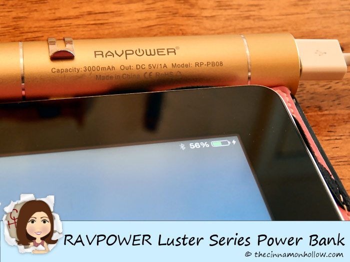 RAVPOWER Luster Series Power Bank Charging