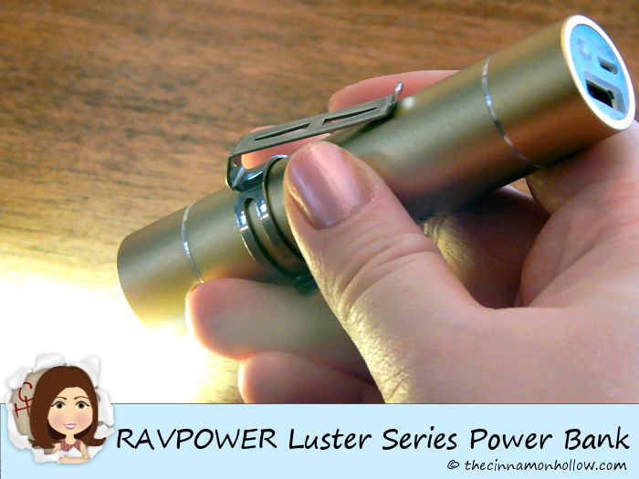RAVPOWER Luster Series Power Bank Flashlight
