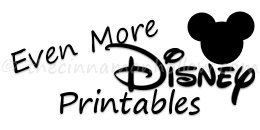 More Disney Printables