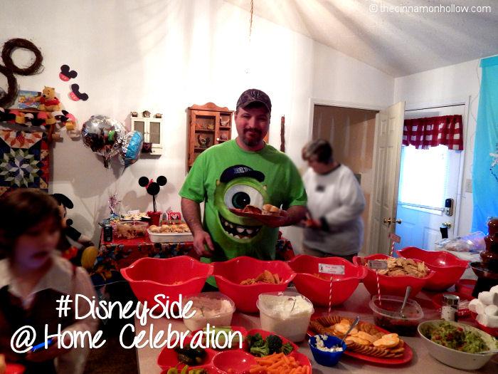 Disney Side @ home Celebration Disney Themed Food