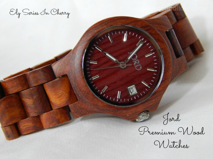 Jord Premium Wood Watch Ely Cherry