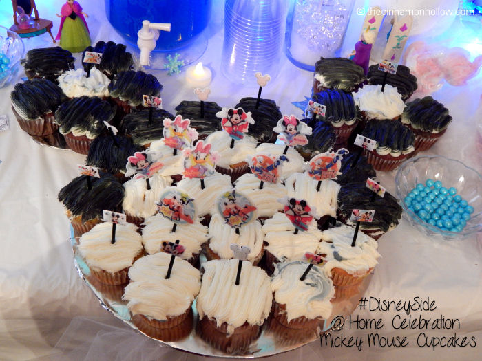 Disney Side Mickey Cupcakes