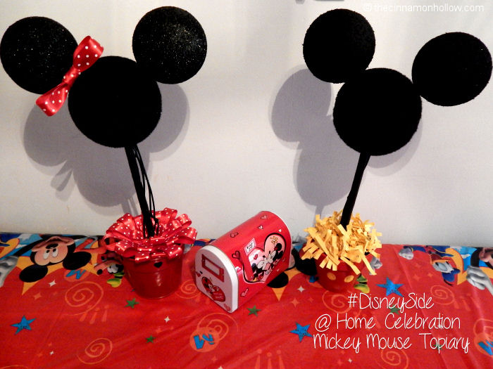 Disney Side Mickey and Minnie Topiary #DisneySide