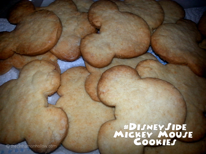 #DisneySide Mickey Mouse Cut Out cookies Disney Side