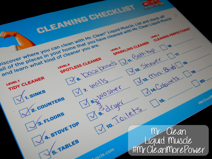 Mr Clean Cleaning Checklist #MrCleanMorePower