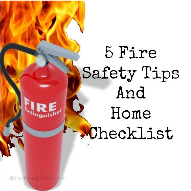 5 fire safety tips and checklist for Fire prevention tips for home