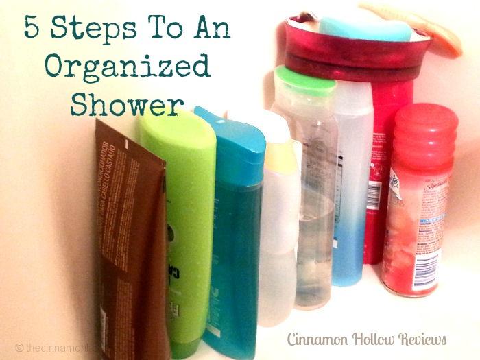 Bathroom Organization Ideas. 5 Steps To An Organized Shower.