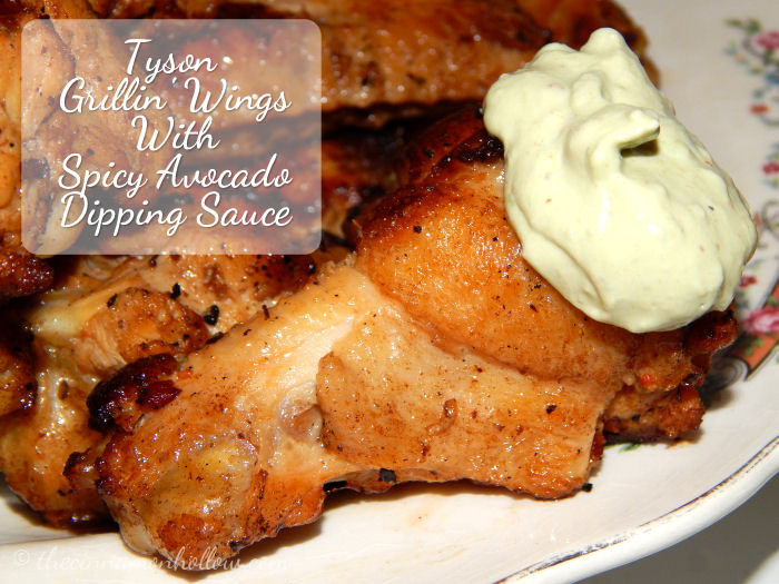 Tyson Grillin Wings With Spicy Avocado Dipping Sauce
