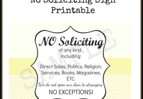 Free Printable No Soliciting Sign