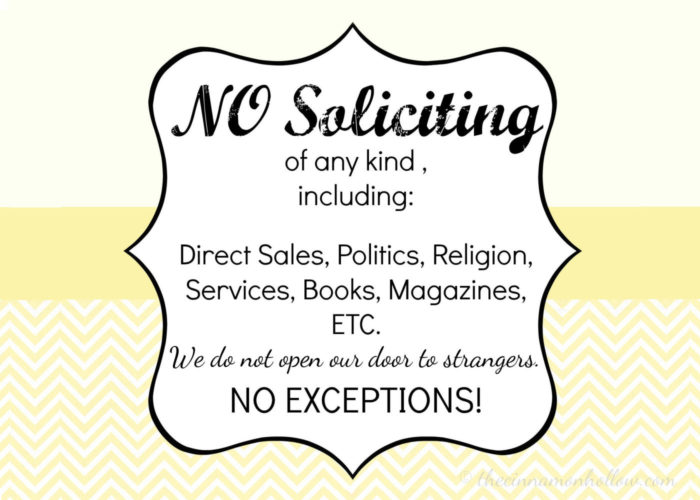 Pin no soliciting sign hashemian blog on pinterest - Funny soliciting signs ...