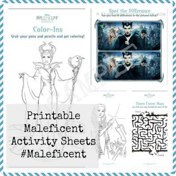 Download These Printable Maleficent Activity Sheets
