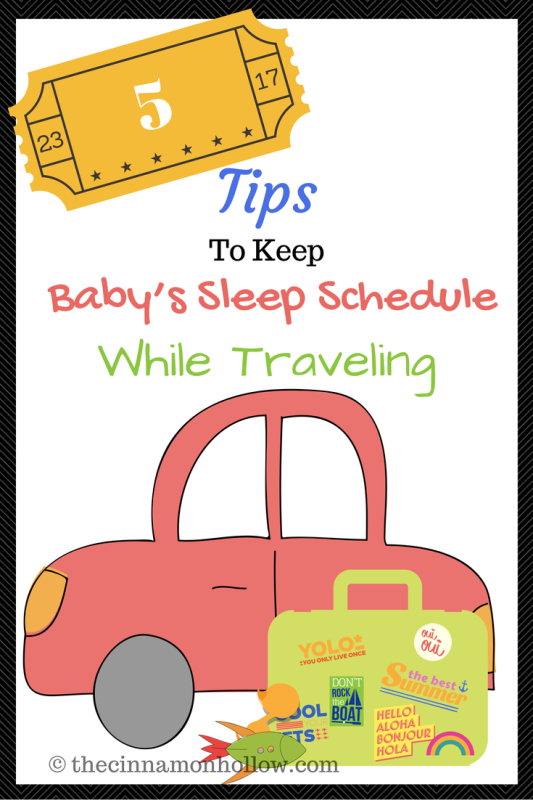 5 Tips To Help Baby Sleep While Traveling