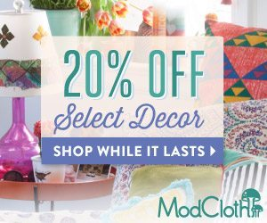 20% Off Select Decor Items From ModCloth