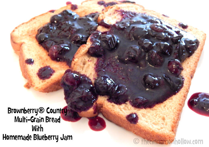 Brownberry Country Multi-Grain Toast With Homemade Blueberry Jam